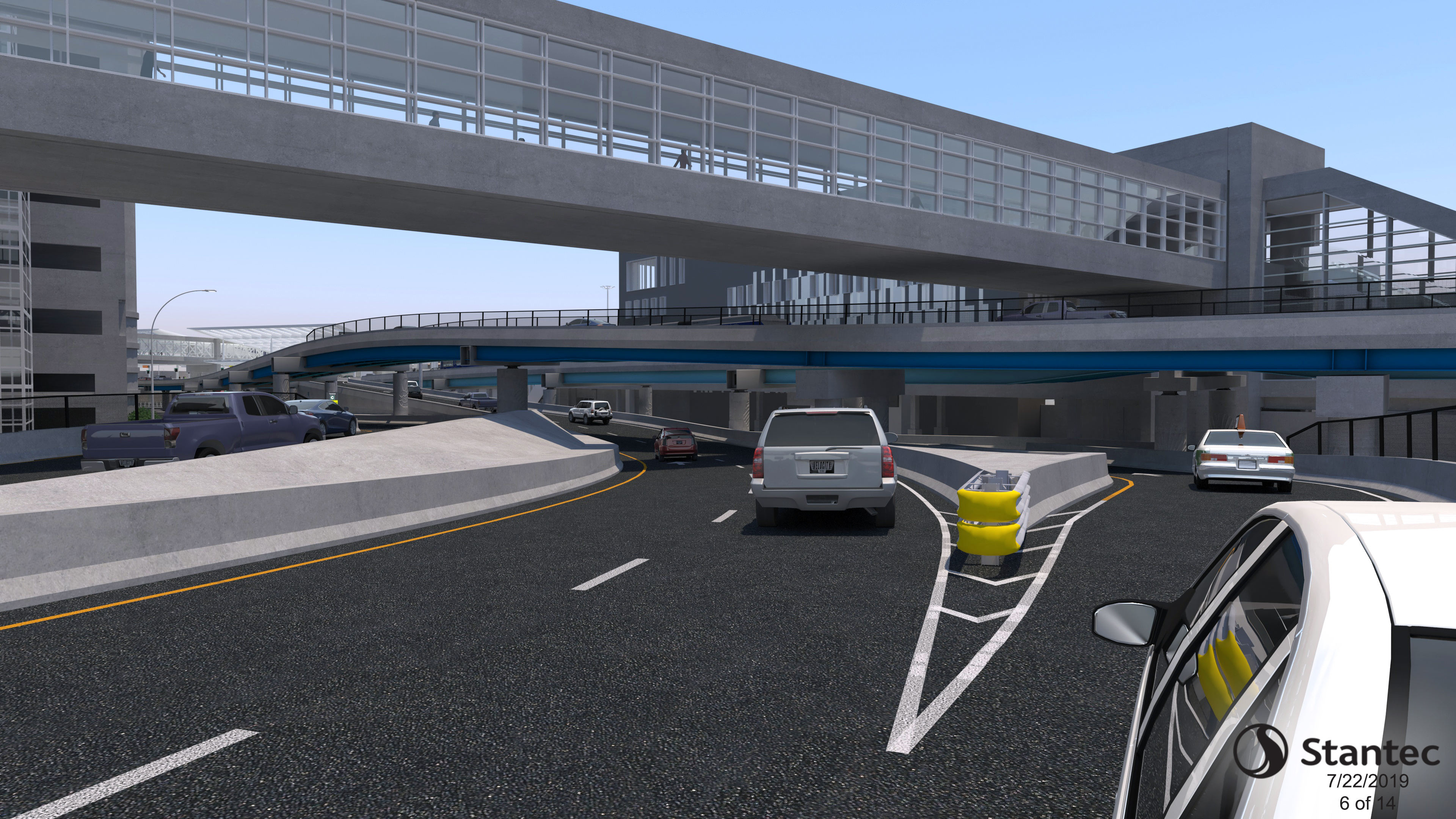 Roadway Approaching Terminal C Rendering