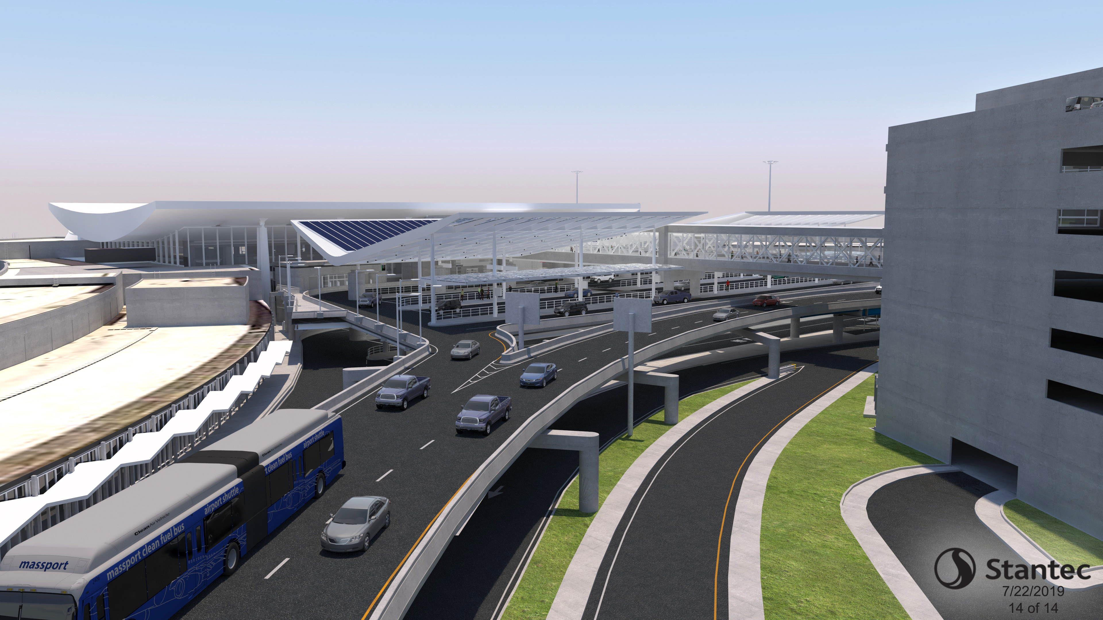 Roadway Rendering Looking Back to Terminal C