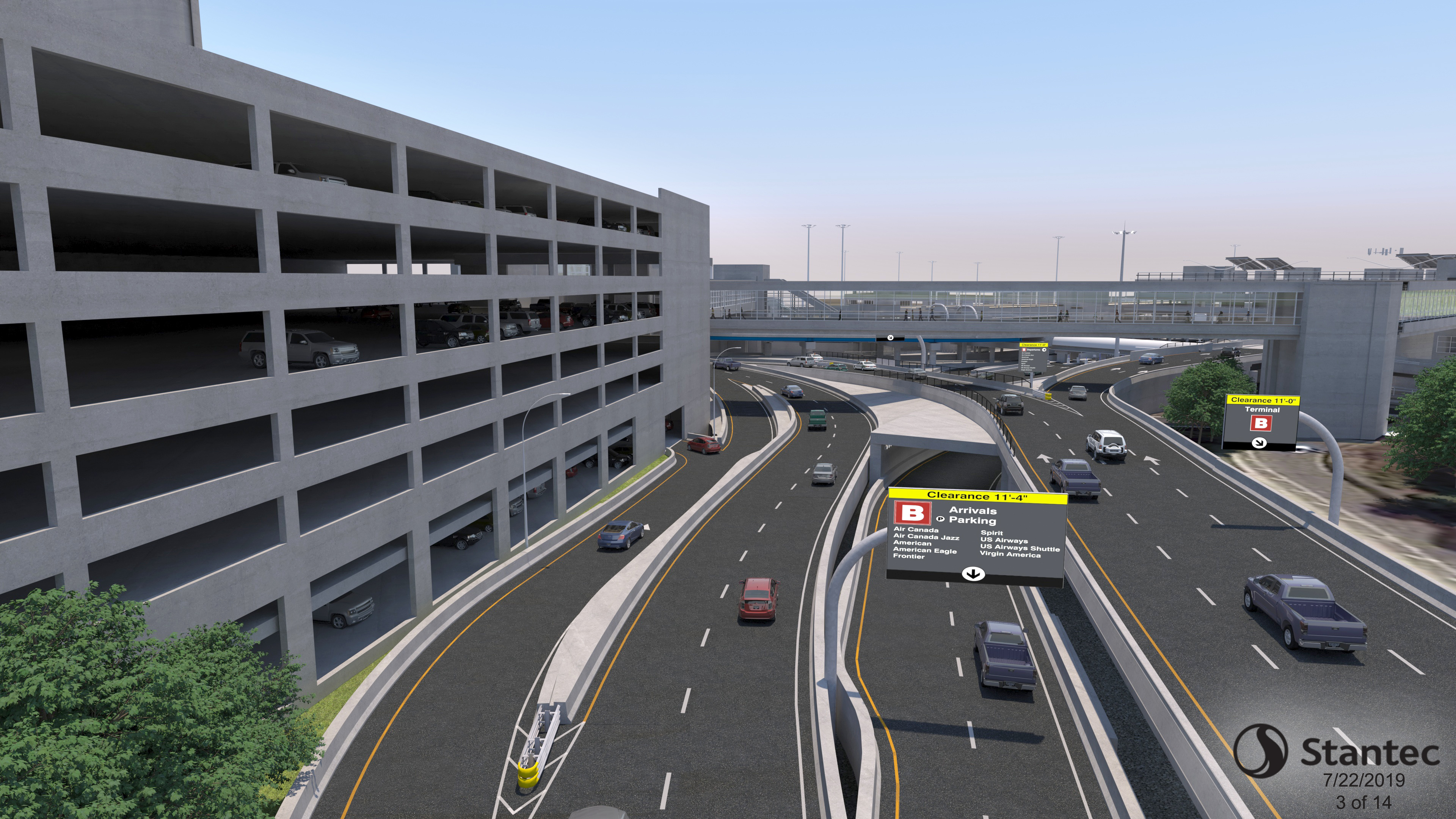 Roadway Approaching Terminal B Rendering
